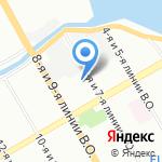 Международный Транспорт и Логистика на карте Санкт-Петербурга
