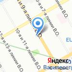 Мастерская по ремонту обуви и изготовлению ключей на карте Санкт-Петербурга