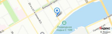 Ауровилль на карте Санкт-Петербурга