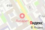 Схема проезда до компании ЛАЗАРЕТ в Санкт-Петербурге