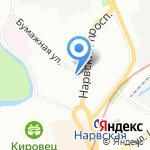 Сферал на карте Санкт-Петербурга