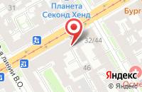 Схема проезда до компании Нева Холдинг в Санкт-Петербурге