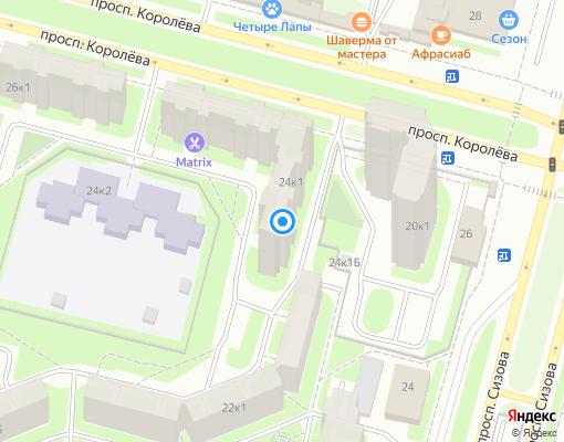 Жилищно-строительный кооператив «ЖСК 1208» на карте Санкт-Петербурга