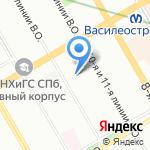 Саквояж на карте Санкт-Петербурга