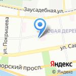 Дибуновская на карте Санкт-Петербурга