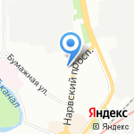 GLORIA glass tehnolodzhi на карте Санкт-Петербурга