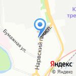 На Нарвском на карте Санкт-Петербурга