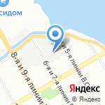 КСБ на карте Санкт-Петербурга