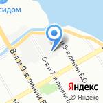 Церковь Христа на Неве на карте Санкт-Петербурга