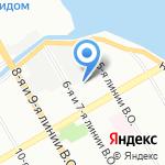 Трикотажная Радуга на карте Санкт-Петербурга