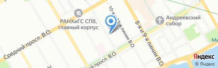Сакартвело на карте Санкт-Петербурга