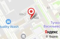 Схема проезда до компании Элмет в Санкт-Петербурге