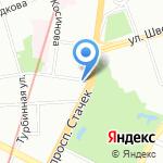 Магазин разливного пива на карте Санкт-Петербурга