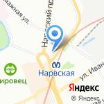 Симфония Камня на карте Санкт-Петербурга