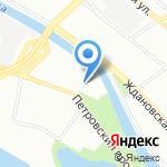Атлантик на карте Санкт-Петербурга