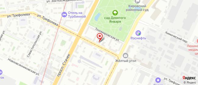 Карта расположения пункта доставки На Трефолева в городе Санкт-Петербург