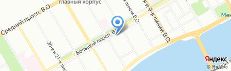Банкомат Банк УРАЛСИБ на карте Санкт-Петербурга