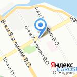 Студия красоты Аркадия Пышкина на карте Санкт-Петербурга