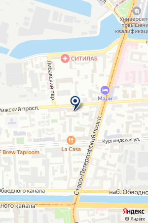 ТФ К-КВАДРАТ на карте Санкт-Петербурга