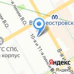 Санкт-Петербургский институт на карте Санкт-Петербурга