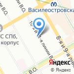Адвокат Никитин М.В. на карте Санкт-Петербурга