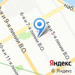 Магазин горячей выпечки на карте Санкт-Петербурга