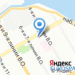 Салон причесок на карте Санкт-Петербурга