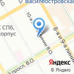 Академия Следственного комитета РФ на карте Санкт-Петербурга