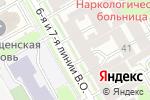 Схема проезда до компании Независимая военно-врачебная экспертиза в Санкт-Петербурге
