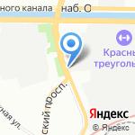 Петрошина на карте Санкт-Петербурга