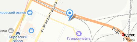 Леком на карте Санкт-Петербурга