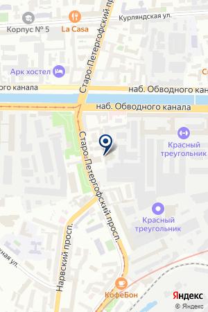 ТФ АВР на карте Петергофа