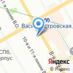 Франко на карте Санкт-Петербурга