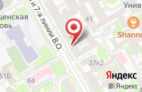 Схема проезда до компании Петрограф в Санкт-Петербурге