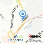 Онтайп на карте Санкт-Петербурга
