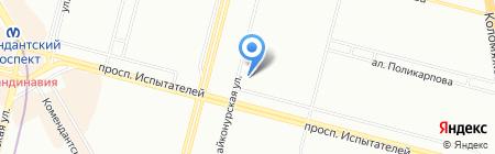 Шиномонтажная мастерская на проспекте Испытателей на карте Санкт-Петербурга