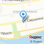 De Corra на карте Санкт-Петербурга