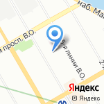 Славрем на карте Санкт-Петербурга