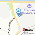 У церкви на карте Санкт-Петербурга