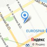 Нотариус Лялькина Т.П. на карте Санкт-Петербурга