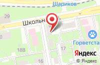 Схема проезда до компании Повадинская средняя общеобразовательная школа в Вельяминово