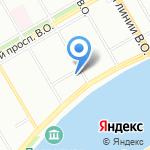 На Шмидта на карте Санкт-Петербурга