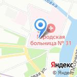 Консультативно-диагностический центр с поликлиникой на карте Санкт-Петербурга