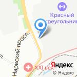 Старая Нарва на карте Санкт-Петербурга