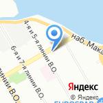 Магазин тканей и трикотажных изделий на карте Санкт-Петербурга