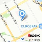 Средняя общеобразовательная школа №28 с дошкольным отделением на карте Санкт-Петербурга