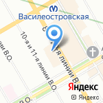 Плеже на карте Санкт-Петербурга
