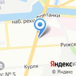 Акроспорт на карте Санкт-Петербурга