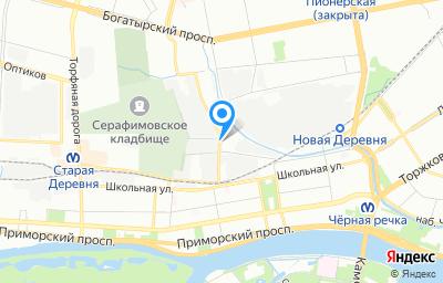 Местоположение на карте пункта техосмотра по адресу г Санкт-Петербург, ул Полевая Сабировская, д 37 литер в