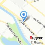 Дом на Ждановке на карте Санкт-Петербурга